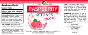 Pure Raspberry Ketone Drops Label
