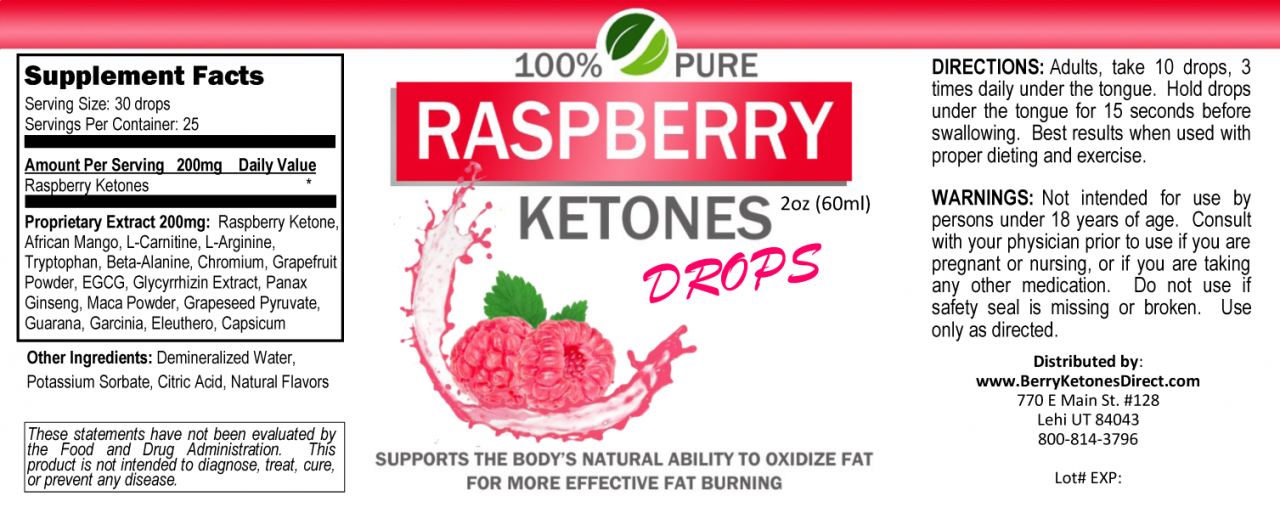 Raspberry Ketones Drops * Does it Work * Scam * Review