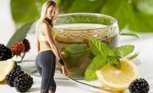 green tea with raspberry