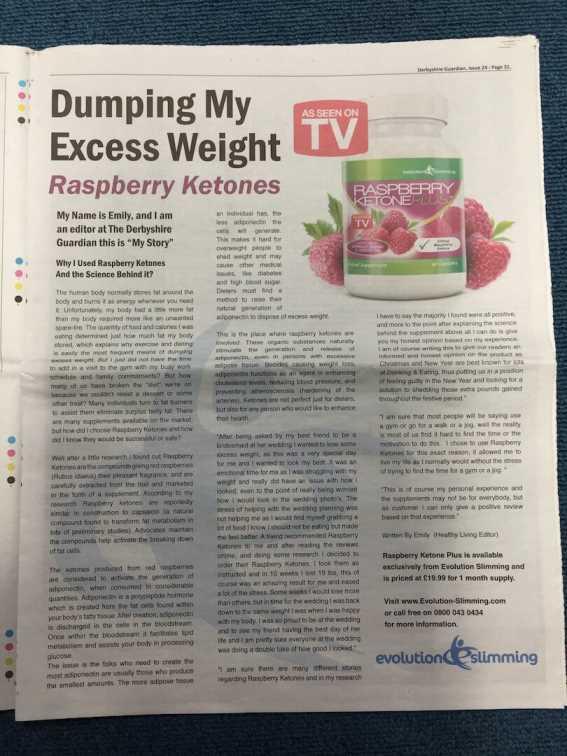 Lose weight Raspberry ketone
