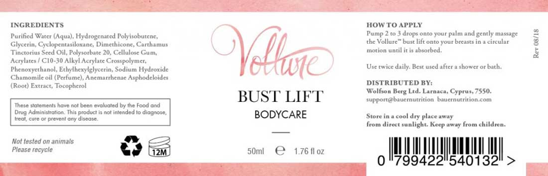 Vollure for breasts ingredients Wolfson Berg ltd ok reviews