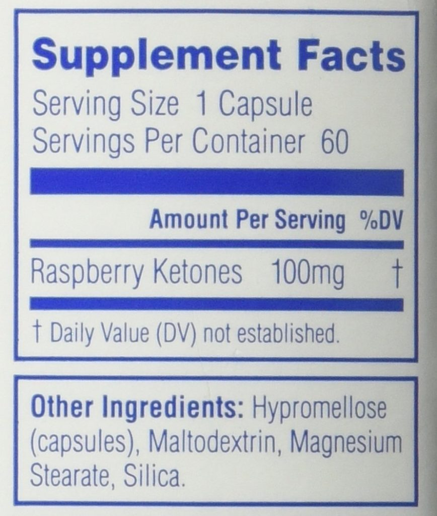 labrada raspberry ketone ingredients