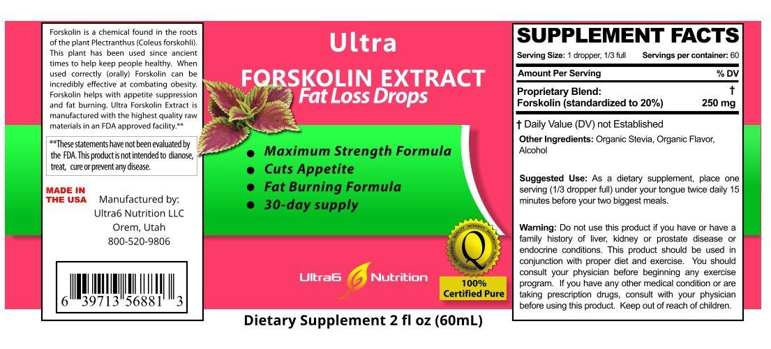 ultra forskolin ingredients