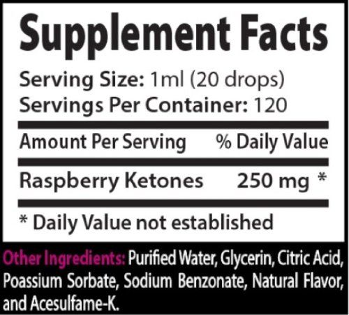 Absonutrix Raspberry Ketone Xtreme ingredients