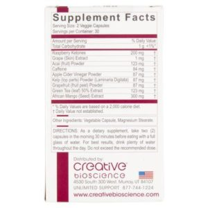 Raspberry Ketone 1234 ingredients