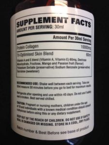 YouTonics Skin Supplement Facts